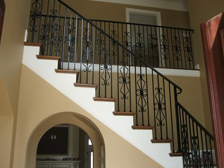 wrought iron balcony and staircase